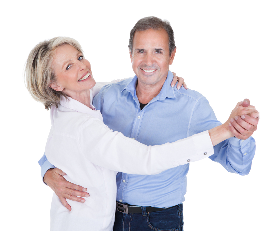 Portrait of a mature couple dancing together